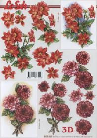 3D Bogen Dahlien - Format A4