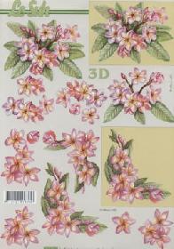 3D Bogen Blütenzweig - Format A4