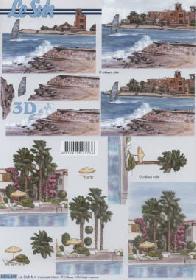 3D Bogen Strand und Meer - Format A4