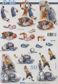 3D Bogen Fussball+Basketball - Format A4