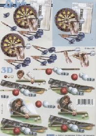 3D Bogen Billiard+Dart - Format A4