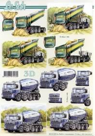 3D Bogen LKW?s - Format A4