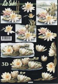 3D Bogen Seerosen - Format A4