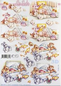 3D Bogen Baby schläft - Format A4