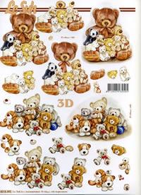 3D Bogen B?renfamilie - Format A4
