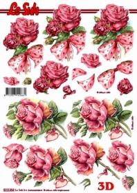 3D Bogen Rosen mit Schleife - Format A4