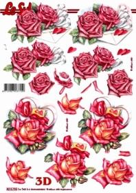 3D Bogen Rosen und Briefumschlag - Format A4