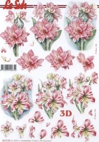 3D Bogen 2x Blumen Format A4 - Format A4
