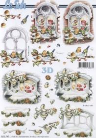 3D Bogen Weihnachtsfenster Format A4 - Format A4