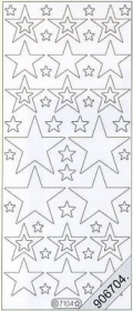 Samt Stickers 10 x 23 cm - grün