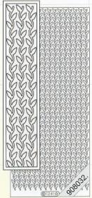 Stickers Flitter Blätter turkisch - türkis