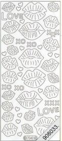 Stickers Flitter Love,Lippe turkisch - türkis