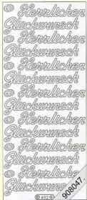 Stickers Glitzer-Stickers - rosa