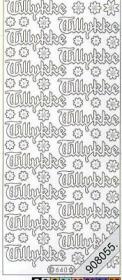 Stickers - Glitzer-Stickers silber