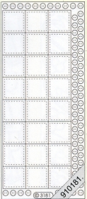 Stickers transparent - silber