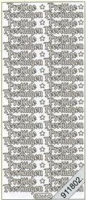 Stickers zum sticken Prettige Feestdagen transp.gold - gold