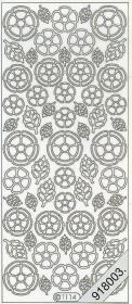 Stickers Blätter+Blumen - weiß
