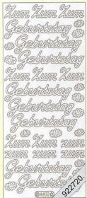 Stickers Zum GeburtstagText-Sticker - deutsch - gold