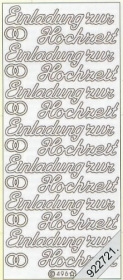 Stickers Einladung zur Hochzeit - silber