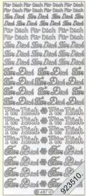 Stickers Für Dich - silber
