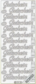 Stickers Text-Sticker - deutsch - gold
