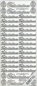 Stickers 0500 - Felicitations - gold