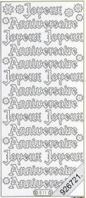 Stickers Text Stickers -  fran?ais Joyeux Anniversaire - gold