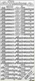 Stickers Text Stickers -  français - silber