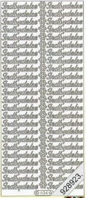 Stickers Text Stickers -  dansk - silber