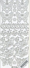 Stickers 0818 - Marienk.+ Schmetterling - multicolor