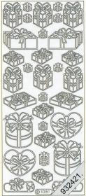 Stickers - Figuren / Motiv silber