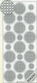Stickers Ganze-rund blau - blau