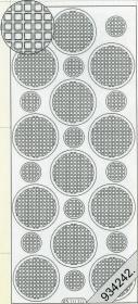 Stickers Ganze-rund rot - rot