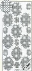 Stickers Vierecke in Oval blau - blau