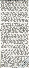 Stickers Buchstaben - hellblau