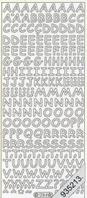 Stickers - Buchstaben silber