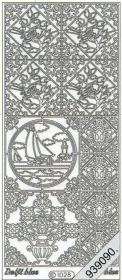 Stickers 1028 - Ziegel Segelboot - weiß