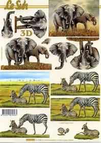 3D Bogen Elefant - Format A4