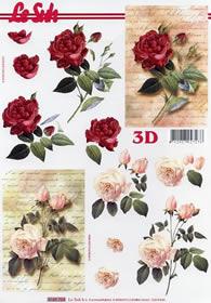3D Bogen Rosen auf Brief - Format A4