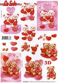 3D Bogen Valentinskarte 1 - Format A4