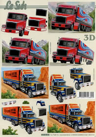 3D Bogen LKW - Format A4