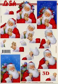 3D Bogen Weihnachtsmann - Format A4