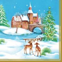 Servietten 33x33 cm - Weihnachtsbr𣫥