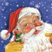 Servietten 33x33 cm - Santa & Elf