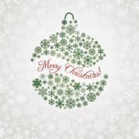 Servietten 33x33 cm - Xmas Snowflake Ball Green