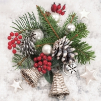 Servietten 33x33 cm - Xmas Winter Decor