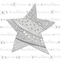Servietten 33x33 cm - Modern Graphic Star Silver