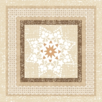 Servietten 33x33 cm - Ethnic Star in a Frame Taupe