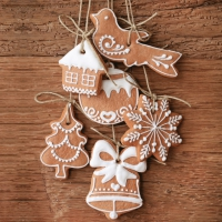 Servietten 33x33 cm - Fancy Gingerbread Cookies