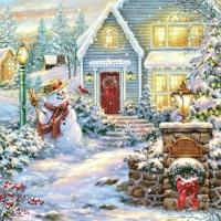 Servietten 33x33 cm - Christmas Evening